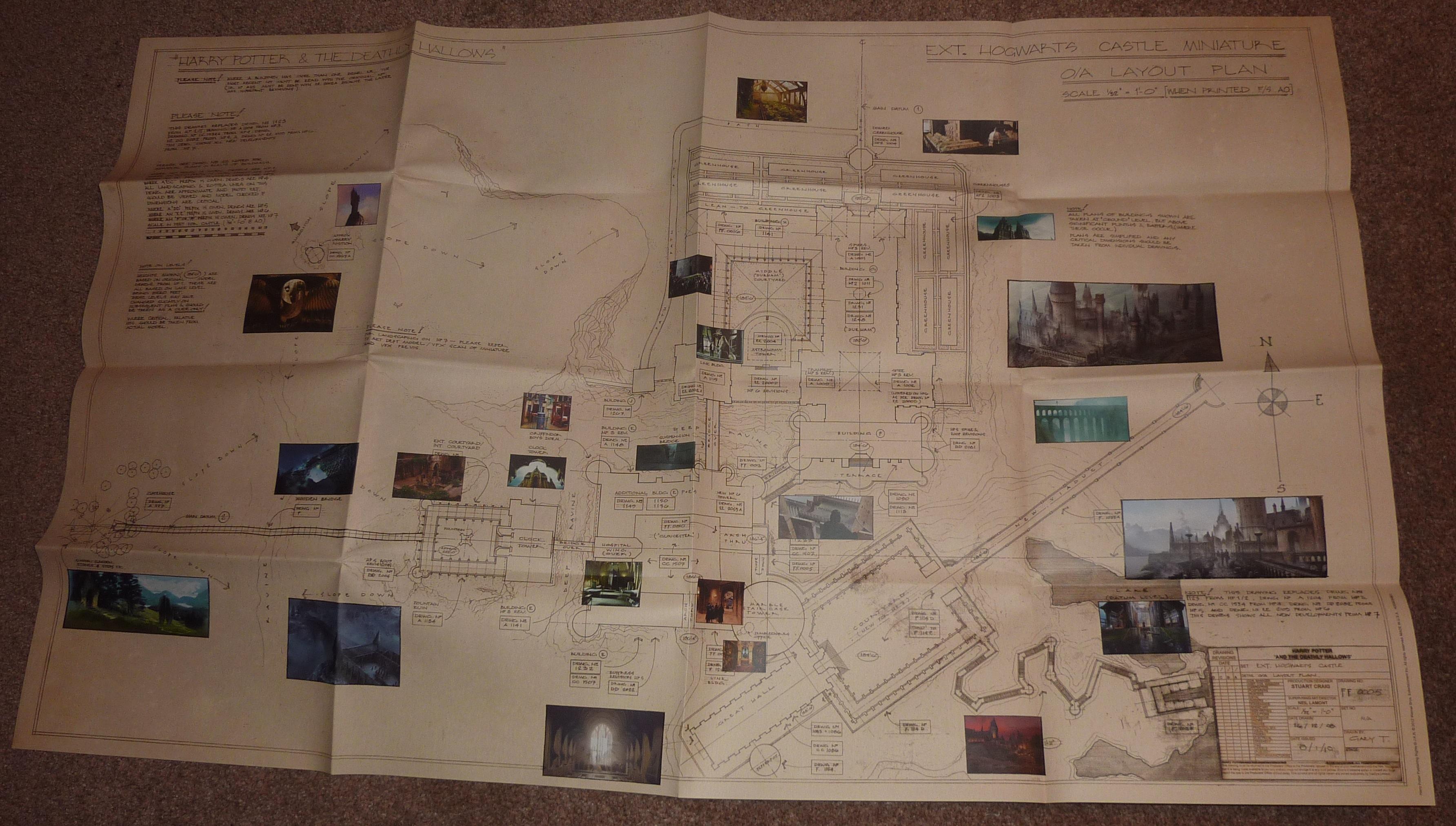 Blueprints For Hogwarts Harrypotter