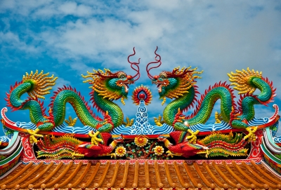 A female's nest example, the male dragon has even dressed the same! Image 'Dragon Roof' courtesy of cbenjasuwan / FreeDigitalPhotos.net