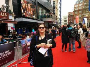 Stacey on red carpet